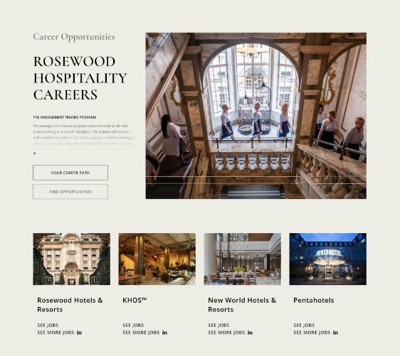 career opportunities at rosewood  website design