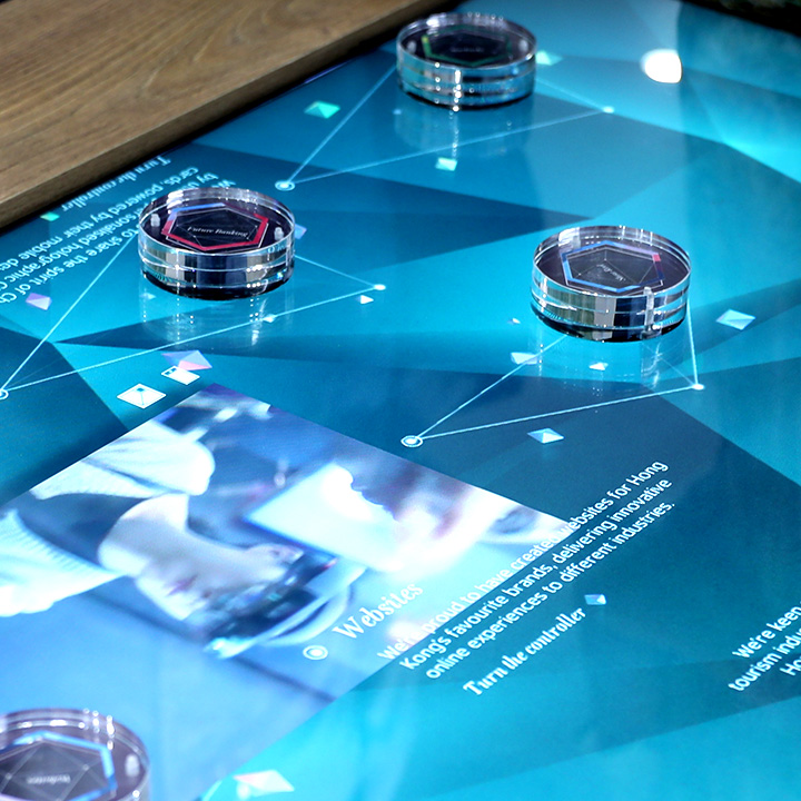 Interactive touch table Mirum hong Kong