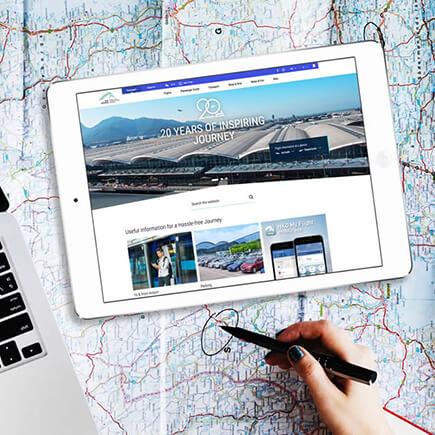 Hong Kong international Airport website design thumbnail